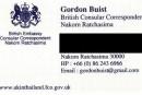 British Consular Correspondant in Nakhon Ratchasima