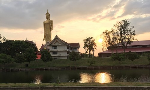 The Wat Burapha Phiram Temple in Roi Et